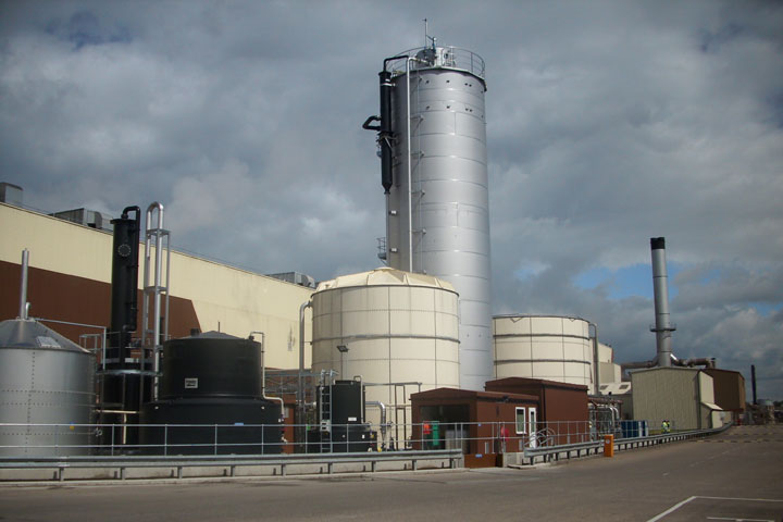 Smurfit water treatment plant.